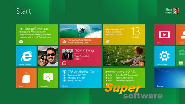 Скриншот Windows 8 Release Preview Build 8400 Rus