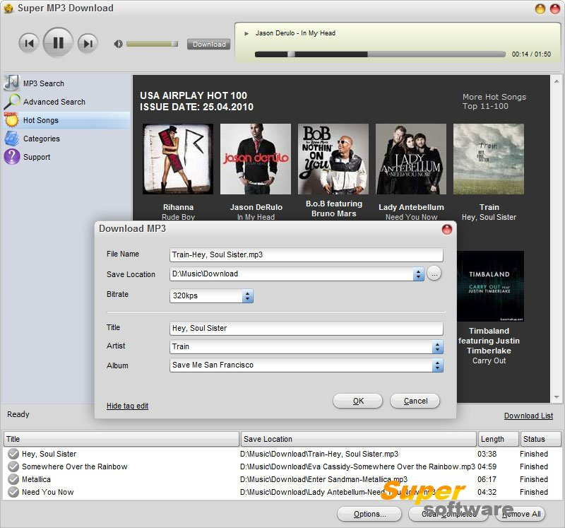 Скриншот Super MP3 Download 5.1.4.6