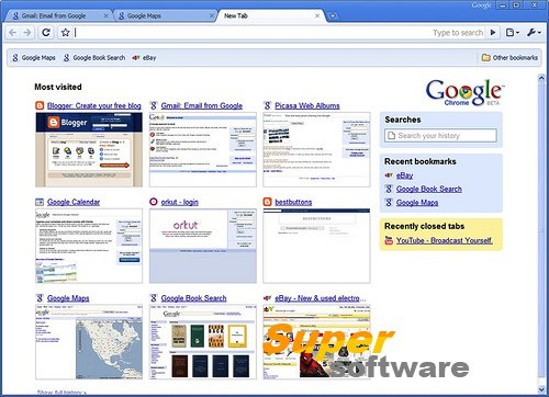 Скриншот Google Chrome 55.0.2883.75