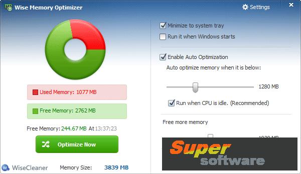 Скриншот Wise Memory Optimizer 3.47.98