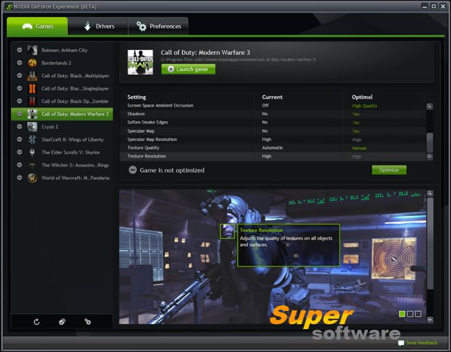 Скриншот NVIDIA GeForce Experience 3.4.0.70