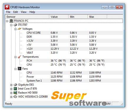 Скриншот HWMonitor 1.28.0