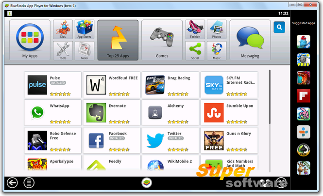 Скриншот BlueStacks App Player 2.5.78.7302