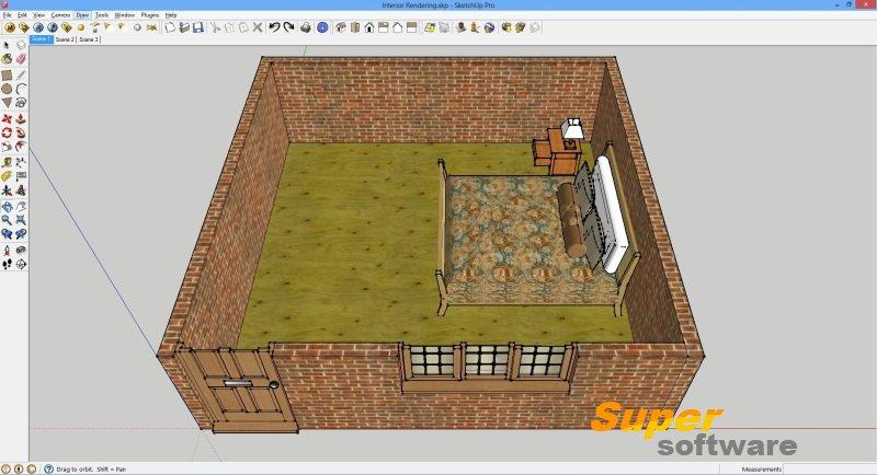 Скриншот SketchUp Make 17.2.2555