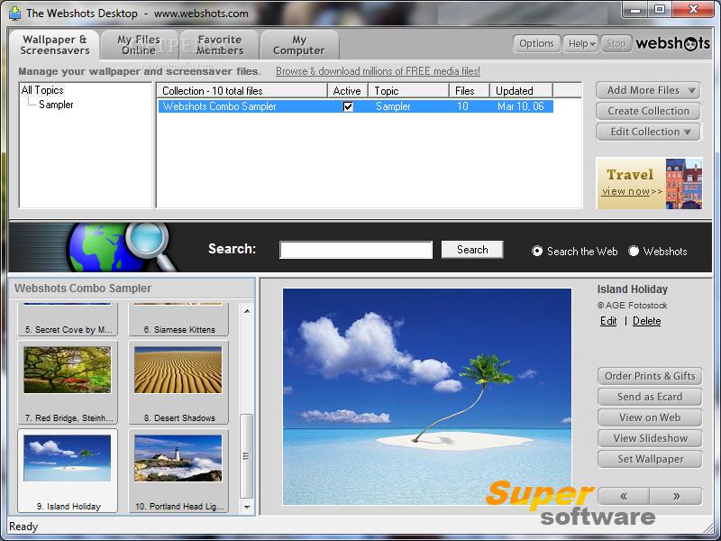 Скриншот Webshots Desktop 3.1.5.7619