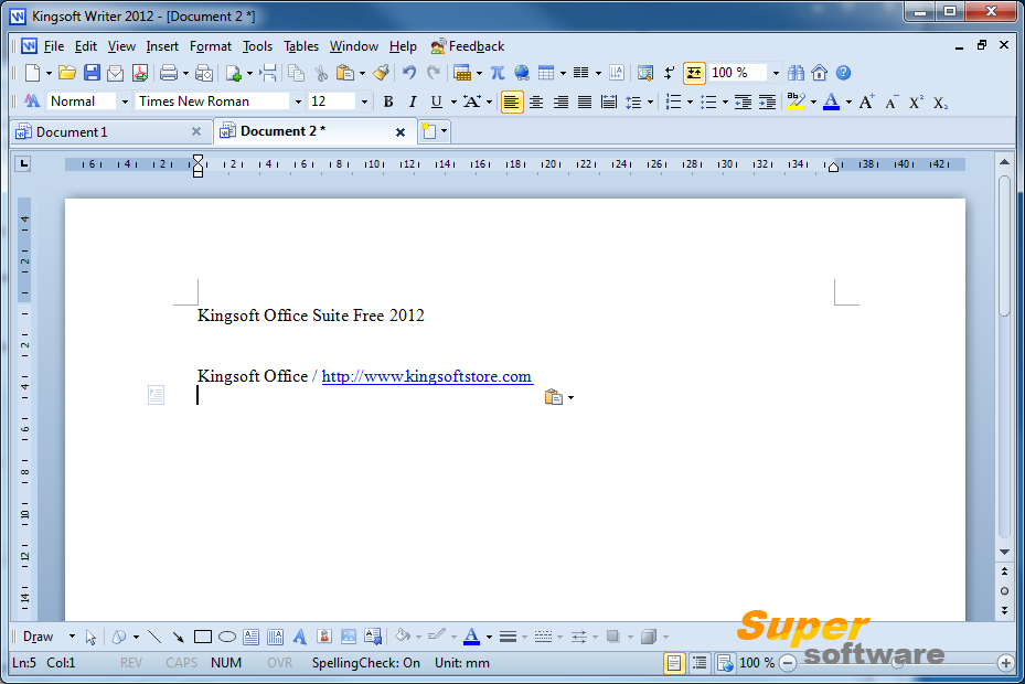 Скриншот Kingsoft Office Suite Free 2013 9.1.0.4550