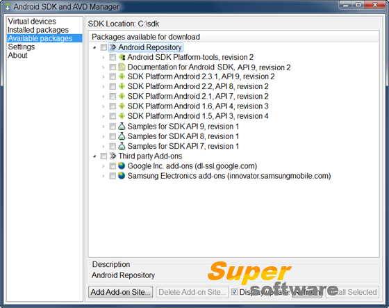 Скриншот Android SDK 24.4.1
