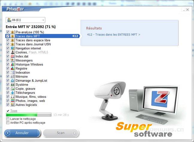 Скриншот PrivaZer 3.014