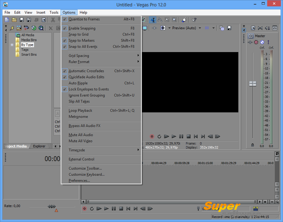 Скриншот Sony Vegas Pro 11.0.700 / 14.0 Build 211