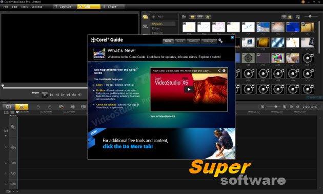 Скриншот Corel VideoStudio Pro X6 16.1.0.45