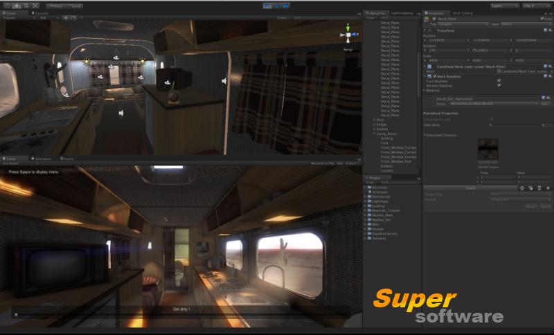 Скриншот Unity 3D 2017.3.0