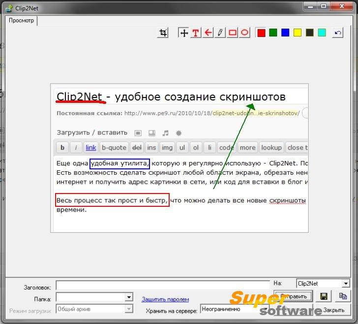 Скриншот Clip2Net 2.3.3.316