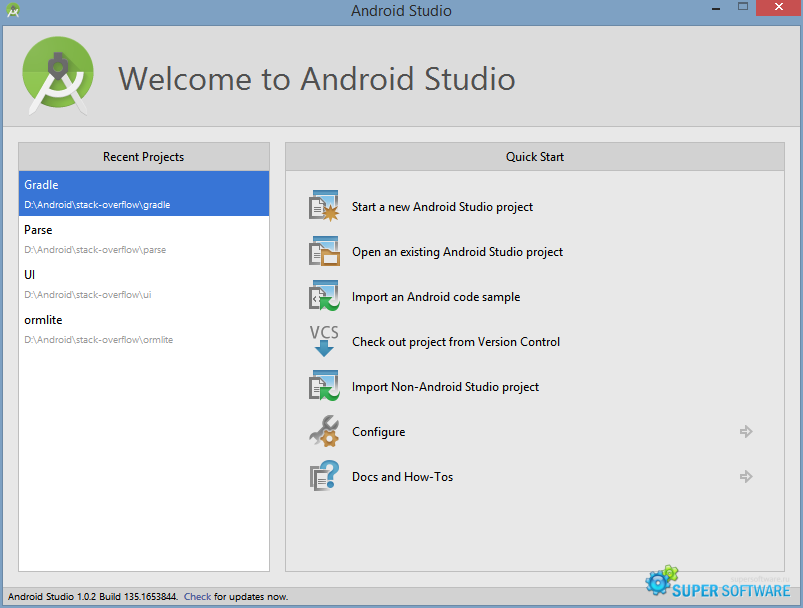 Скриншот Android Studio 2.3.2 Build 162.3934792