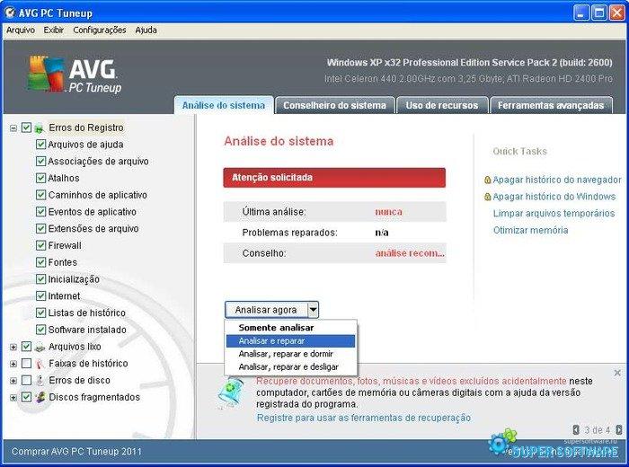 Скриншот AVG PC Tuneup 16.75.3.10304