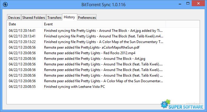 Скриншот BitTorrent Sync 2.3.7 (451)