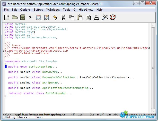Скриншот Emacs 24.5