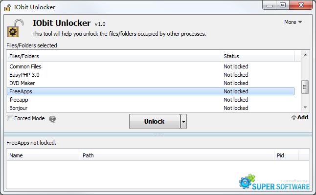 Скриншот IObit Unlocker 1.1.2