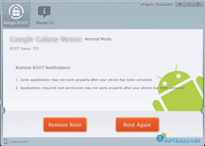 Скриншот Kingo ROOT 1.5.2.3072