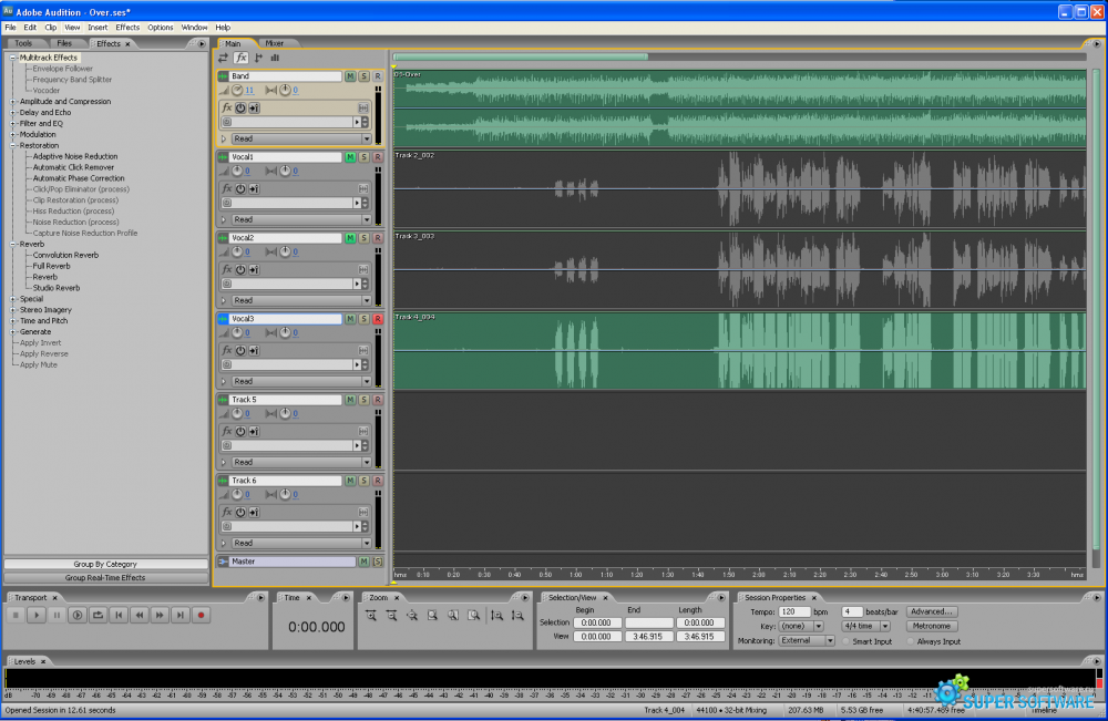 Скриншот Adobe Audition 3.0.1 Build 8347