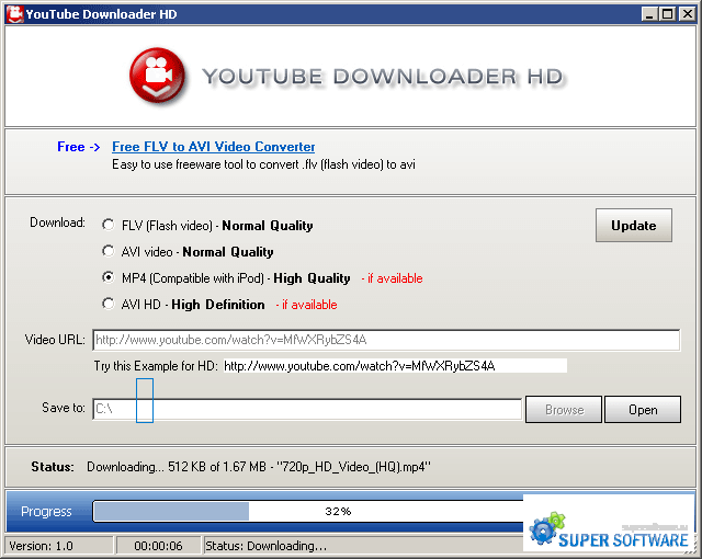 Скриншот YouTube Downloader HD 2.9.9.28