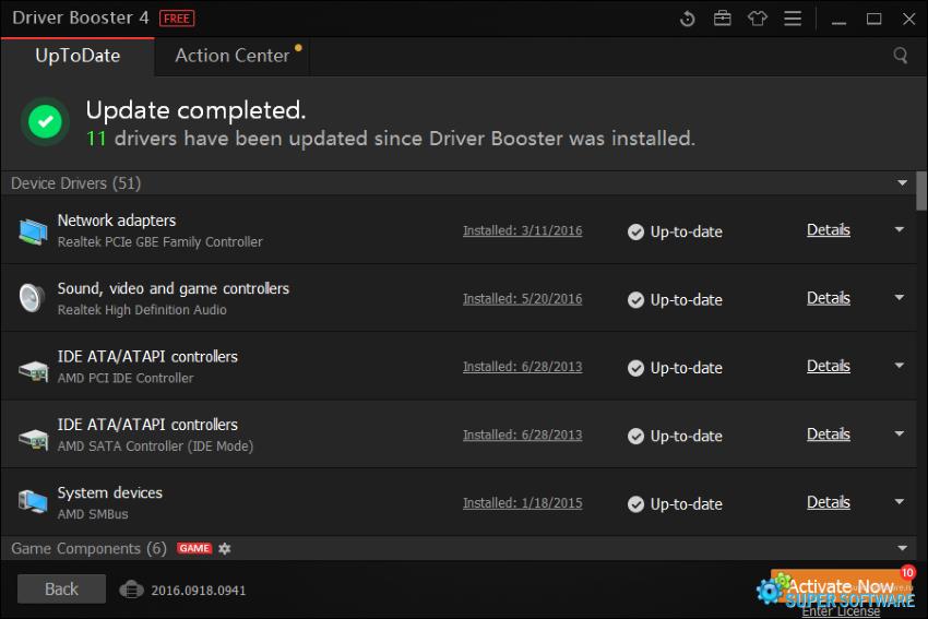 Скриншот Driver Booster Free 5.0.3.393