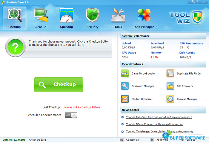 �������� ToolWiz Care 3.1.0.5500